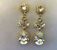 gold crystal chandelier earrings crystal embellished teardrop dangle earrings images of gold tone crystal chandelier