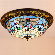 beautiful stained glass shade dragonfly tiffany ceiling light with regard to lamp shades idea 3
