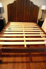 King Bed Wooden Slatted Bed Frame King Wood Slat Bed Frame Photo 1 ...