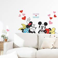 120 00 aed on self adhesive wall art stickers with souq mickey mouse and minnie mouse with hearts self adhesive wall
