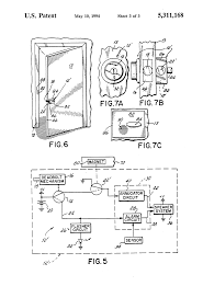 patent us5311168 lock set self contained door alarm and patent drawing