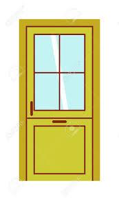 open front door. Elegant Open Front Door Clipart