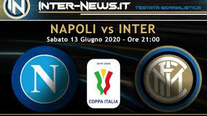 Napoli Inter 1-1, il tabellino della partita delle semifinali di Coppa  Italia