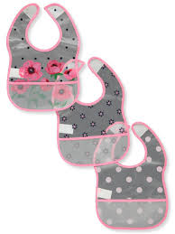 Little Me Clothing Size Chart Little Me Baby Girls 3 Pack Bibs