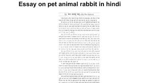 essay on pet animal rabbit in hindi google docs