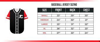 Baseball Jersey Size Chart Kasa Immo