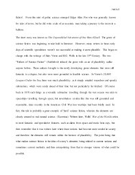 science fiction essay working draft  science 3 hollis3 fiction