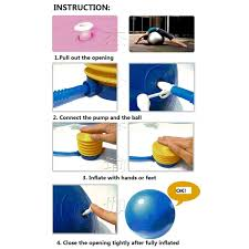 Exercise Ball Size Chart Gym Ball Size 65cm With Free Pump