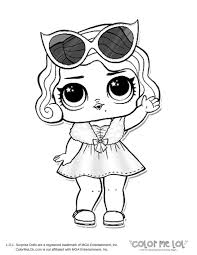 Lol Dolls Free Coloring Pages Doll To Print Printable Stunning