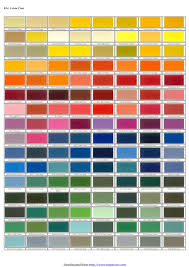 Ral Chart Download Download Ral Colour Chart 1 For Free Chartstemplate