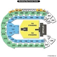 Mandalay Bay Event Center Detailed Seating Chart 48 Circumstantial Mandalay Bay Event Center Map
