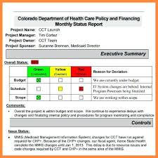 Status Report Format Template Template Of Project Report