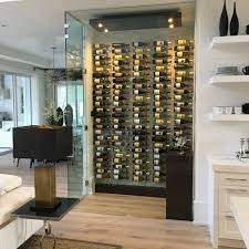 frameless glass wine room doors