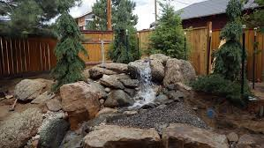 pondless water feature design installed in estes park
