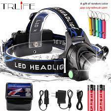 LED far XML V6/L2/T6 zoom LED far Torch el feneri kafa lambası kullanımı  2*18650 pil kamp bisiklet ışığı hediye almak|Kafa Lambaları