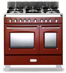 Gas Range With Gas Oven Verona Classic 36 Gas Double Oven Range Verona Appliances
