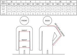 Ravean Jacket Sizing Charts For Men Women Ravean