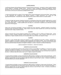 Materials Manager Resume Simple 48 Resume Summary Examples PDF Word Sample Templates
