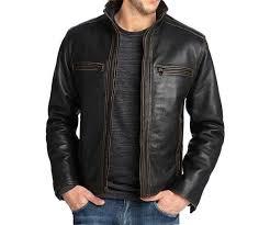 stylish black leather jacket add