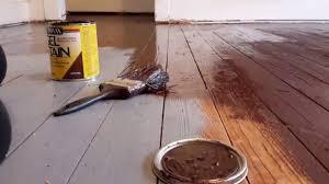 Diy Gel stain over painted wood floors YouTube
