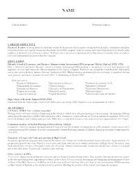 Example Of The Resume An Example Of A Resume For A Job Student ...