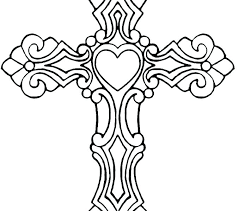 Cross Coloring Pages Printable Coloring Pages Crosses Coloring Page