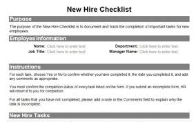 New Hire It Checklist Human Resource Forms For The Entire Employee Lifecycle Resources