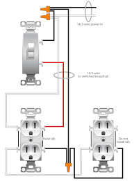 wiring diagram wiring diagram for a switched receptacle wiring how to wire a double outlet in the middle of a run at Ac Outlet Wiring Diagram