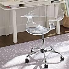 acrylic swivel chair pbteen acrylic office chair