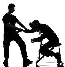 chair massage. chair massage n