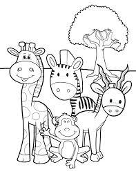 Preschool Jungle Animal Coloring Pages Safari Animals Printable Paw