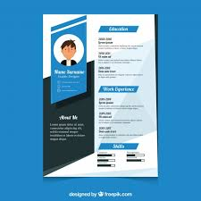 Resume Modern Format Modern Cv Template Vector Free Download