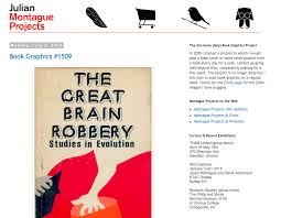 book designs from the same period does the hand on the cover of the great brain robbery look a lot like saul b le from the man with the golden