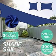 king do way Sun Shade Sail UV Block Polyethylene ... - Amazon.com