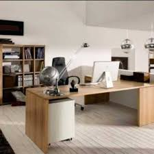 ultimate home office. modern ultimate home office design with wooden desk and ergonomic chair lamp cabinets