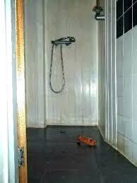 concrete shower floor no tile concrete shower floor no tile showers with walls hostel a look