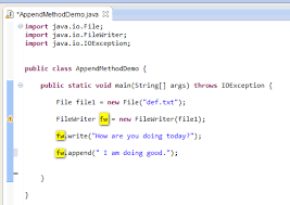 java for  plete beginners   writing to text files likewise Best Way to Append Data to File in  Java   Apache  mons io also java for  plete beginners   writing to text files additionally Create a File and Write in it Using PrintWriter and File class further  moreover Reading from and Writing to a Text File in Java   Free source code in addition Write CSV Files in Java   YouTube further Java Input Output and File Handling additionally How to Read JSON Object From File in Java   Crunchify Tutorial likewise How to write JSON object to File in Java  • Crunchify additionally Write This JAVA Code Using One Class Main  Previou      Chegg. on latest write to file java