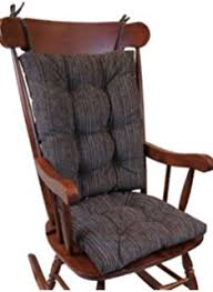 wooden rocking chair with cushion. Perfect Rocking The Gripper NonSlip Polar Jumbo Rocking Chair Cushions Chocolate On Wooden With Cushion H