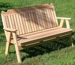straight back english garden bench