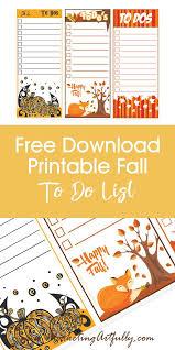 Cute Lists Free Printable To Do Lists Cute And Fun Seasonal Digital