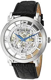 amazon com stuhrling original men s 165b 331554 classic stuhrling original men s 165b 331554 classic winchester grand automatic skeleton watch