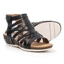 josef seibel hailey 17 gladiator sandals leather for women in black como