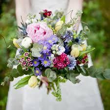 garden bouquet. Bridal Bouquet - English Cottage Garden