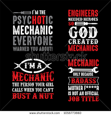 Mechanic Quotes Cool Mechanic Saying Quotes 48 Vector Ready Stock Vector Royalty Free