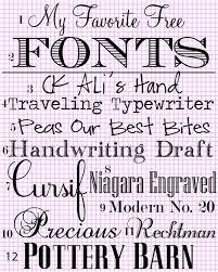 my favotie fonts