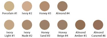 Almond Color Chart Natural Liquid Foundation Almond Amber 5