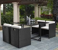 Outdoor Wicker Square Dining Table