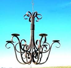 hanging candle chandelier outdoor non electric iron black chan ht iron candle chandeliers