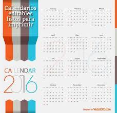 Calendarios Para Imprimir 2015 7 Calendarios 2016 Editables Y Listos Para Imprimir