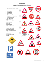 11 Free Esl Road Signs Worksheets